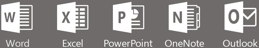 Word Excel PowerPoint OneNote Outlook